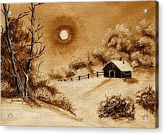 Autumn Snow Acrylic Print by Barbara Griffin