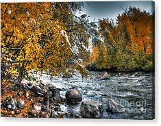 Autumn Snow Acrylic Print by Bob Hislop