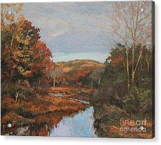Autumn Stream Acrylic Print by Gregory Arnett