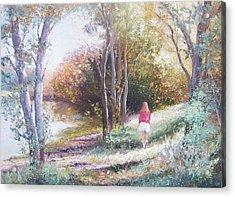 Autumn Strolling  Acrylic Print