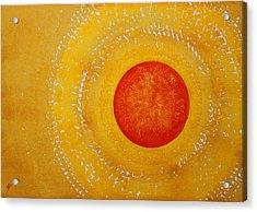 Autumn Sun Original Painting Acrylic Print by Sol Luckman