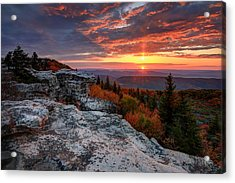 Autumn Sunrise At Dolly Sods Acrylic Print