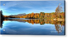 Autumn Sunrise At Price Lake Acrylic Print by Dan Carmichael