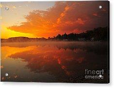 Autumn Sunrise At Stoneledge Lake Acrylic Print by Terri Gostola
