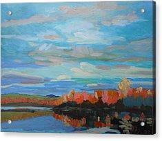 Autumn Sunrise Acrylic Print by Francine Frank