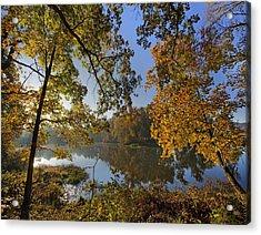 Autumn Sunrise On Lake Sequoyah Arkansas Acrylic Print by Tim Fitzharris