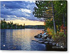 Autumn Sunset At Lake Acrylic Print by Elena Elisseeva