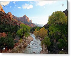 Autumn Sunset In Zion. Acrylic Print