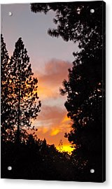 Autumn Sunset Acrylic Print