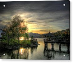 Acrylic Print featuring the photograph Autumn Sunset by Nicola Nobile