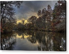 Autumn Sunset On West Brook Pond Acrylic Print