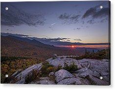 Autumn Sunset Over Sugarloaf Mountain Acrylic Print