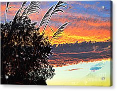 Autumn Sunset Acrylic Print by Luther Fine Art