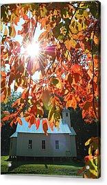 Autumn Sunshine Missionary Baptist Church Acrylic Print by John Saunders