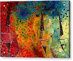 Autumn Symphony Acrylic Print by AmaS Art