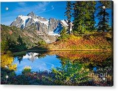 Autumn Tarn Acrylic Print by Inge Johnsson