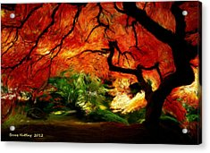 Acrylic Print featuring the painting Autumn Tree by Bruce Nutting