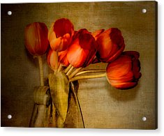 Autumn Tulips Acrylic Print by Julie Palencia