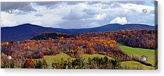 Autumn View Toward Mount Greylock Acrylic Print by Geoffrey Coelho