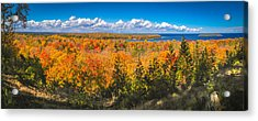 Autumn Vistas Of Nicolet Bay Acrylic Print by Mark David Zahn