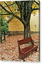 Autumn Wait Acrylic Print