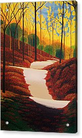 Autumn Walk Acrylic Print by Michael Wicksted