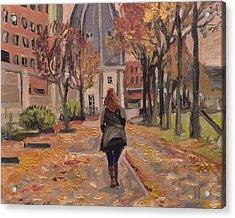 Autumn Walk To The Bonnefanten Acrylic Print by Nop Briex