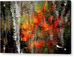 Autumn Water Colors Acrylic Print by Frozen in Time Fine Art Photography