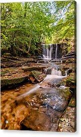 Autumn Waterfall Acrylic Print by Adrian Evans