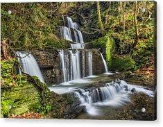 Autumn Waterfall Acrylic Print by Ian Mitchell