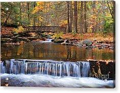 Autumn Waterfalls Acrylic Print