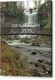 Autumn Waterfalls Acrylic Print