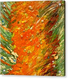 Acrylic Print featuring the painting Autumn Wind by Joan Reese