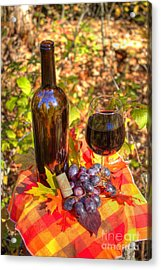 Autumn Wine Acrylic Print