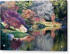 Autumn Winter Crossings Acrylic Print by Lena Hatch