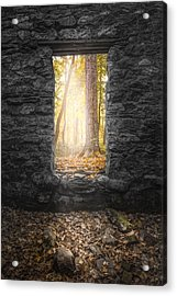 Acrylic Print featuring the photograph Autumn Within Long Pond Ironworks - Historical Ruins by Gary Heller