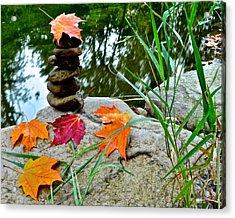 Autumn Zen Acrylic Print by Frozen in Time Fine Art Photography