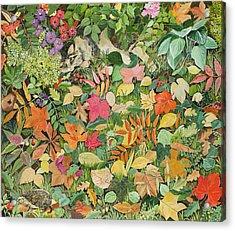 Autumnal Cat Acrylic Print