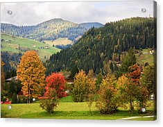 Autumnal Colours In Austria Acrylic Print