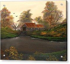Autumnal Sunrise. Acrylic Print by Cynthia Adams