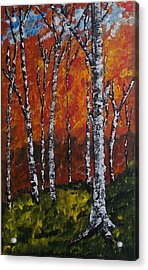 Acrylic Print featuring the painting Autumnforest by Zeke Nord