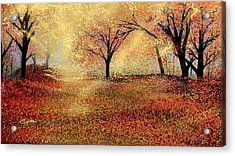 Acrylic Print featuring the digital art Autumn's Colors by Anthony Fishburne