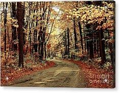 Autumns Dressing Acrylic Print