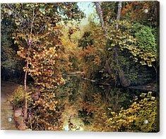 Autumn's Mirror Acrylic Print by Jessica Jenney