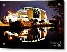 Autzen At Night Acrylic Print