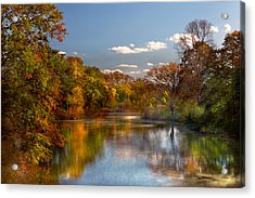 Autumn - Hillsborough Nj - Painted By Nature Acrylic Print by Mike Savad