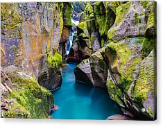 Avalanche Gorge 1 Of 4 Acrylic Print