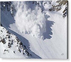 Avalanche IIi Acrylic Print by Bill Gallagher