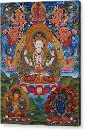 Avalokitesvara The Great Compassionate One Acrylic Print by Art School