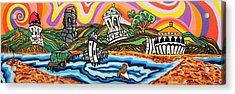 Avalon Bay Acrylic Print by Carlos Martinez